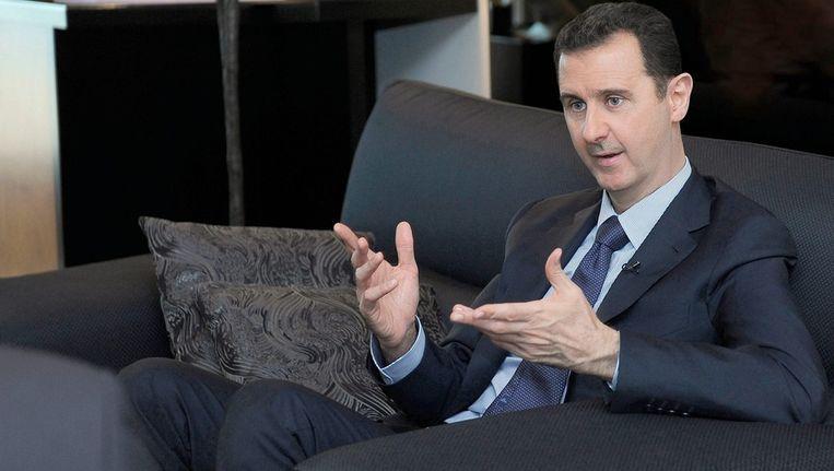 De Syrische president Bashar al-Assad is ook een alawiet. De meerderheid van de Syrische bevolking is soennitisch, de grootste stroming binnen de islam. Beeld epa