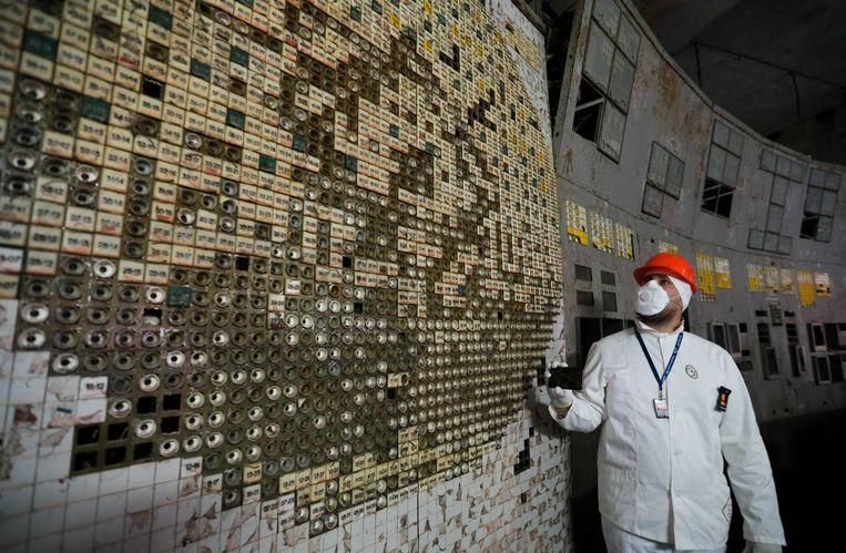Niet verwonderlijk: de controlekamer van reactor 4 is de plaats waar de kernramp op 26 april 1986 ontstond.