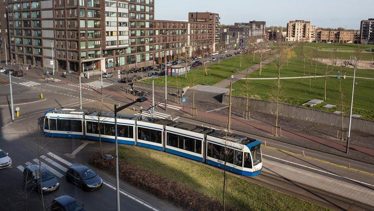 De tramlijn rijdt nu weer de vaste route Beeld Floris Lok