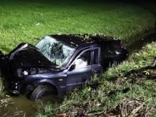 Bestuurder komt zelf uit auto na crash in sloot in Lienden