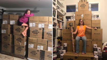 """Australisch gezin koopt per ongeluk 2.300 rollen WC-papier: """"In het begin lachte iedereen, nu komen ze smeken om een rol"""""""