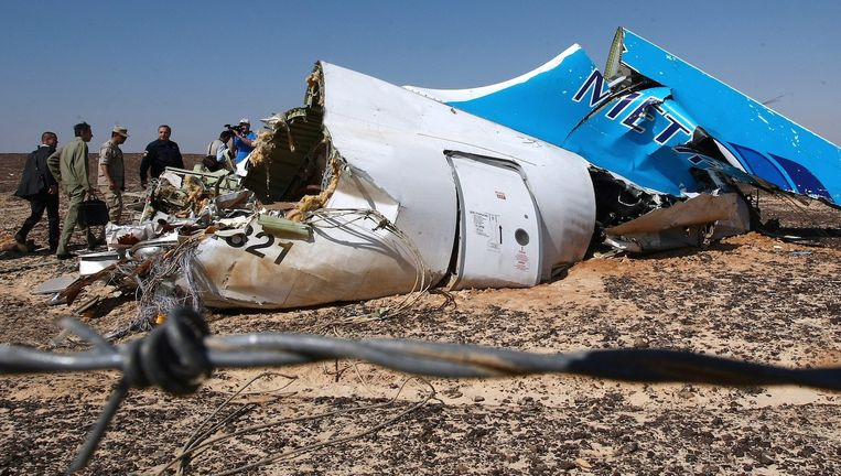 Bij de crash, ruim een week geleden, kwamen alle 224 inzittenden om het leven. Beeld anp