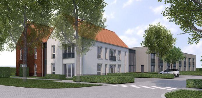 Een artist's impression van het nieuwbouwproject Bakersweg van Sovak in de gemeente Etten-Leur.