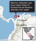 Peter en Durdana legden hun zeiljacht Lazy Duck voor anker bij de kust van Colombia.