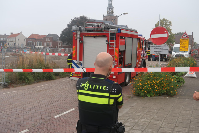 Gaslek op Markt Zevenbergen.