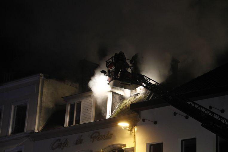 De brand woedde bijzonder hevig