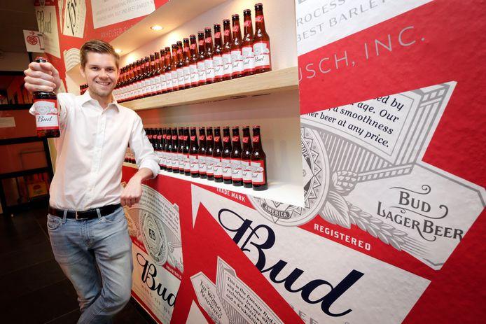 Nicolas Bartholomeeusen, directeur van Bierbrouwerij AB InBev ziet goede kansen van Budweiser in Nederland.