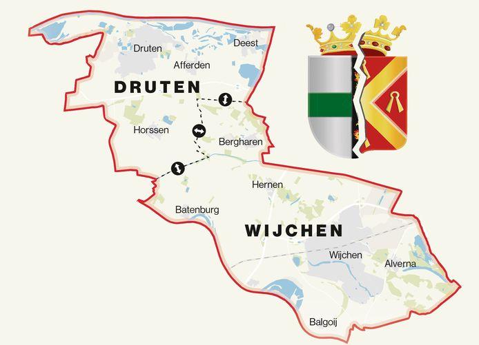 Wel of geen fusie tussen Druten en Wijchen?