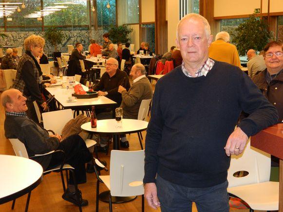Roger De Kneef, voorzitter van de centrumraad, op een foto van eind vorig jaar in het cafetaria van Zonneheem.