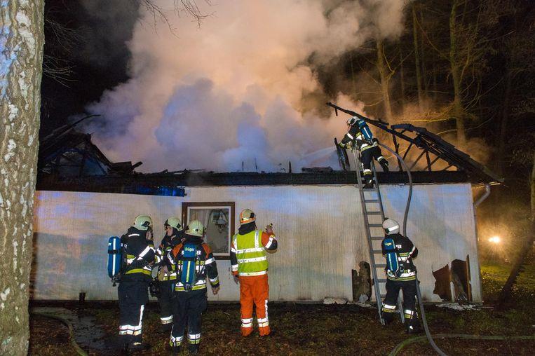 De brand ging gepaard met forse rookontwikkeling.