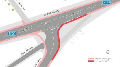 Kruispunt Klein en Groot Veerle wordt vanaf 15 juni aangepakt