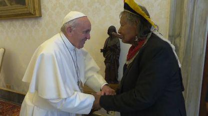 Na Anuna ontmoet Raoni nu ook de Paus