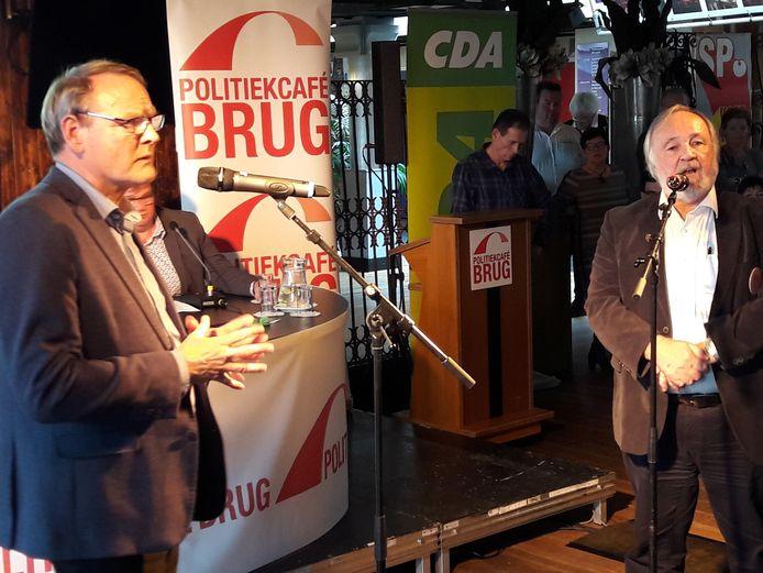 Rein van Moorselaar (SP, links) en Jack van der Dussen (VVD) in debat.