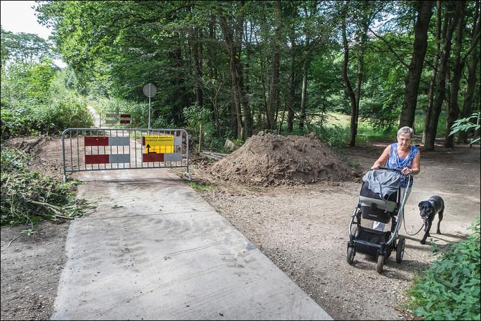 Het nieuwe fietspad in Groesbeek is momenteel afgesloten.