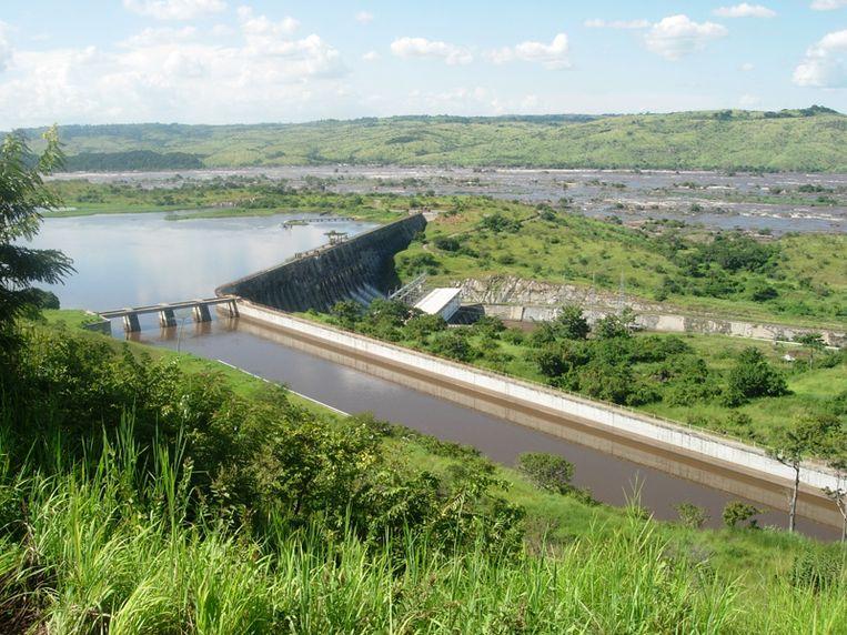 De waterkrachtcentrale in Inga, Congo