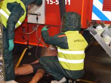 Bedrijfsongeval in scene gezet voor grote brandweeroefening in Poeldijk