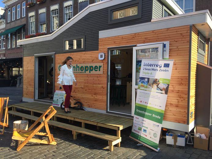 Breda heeft al een mobiele groene 'woonwagen', Greenhopper genoemd. Meierijstad krijgt er in het najaar ook zo een.