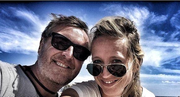 Cath Luyten met haar ex Frank Raes.