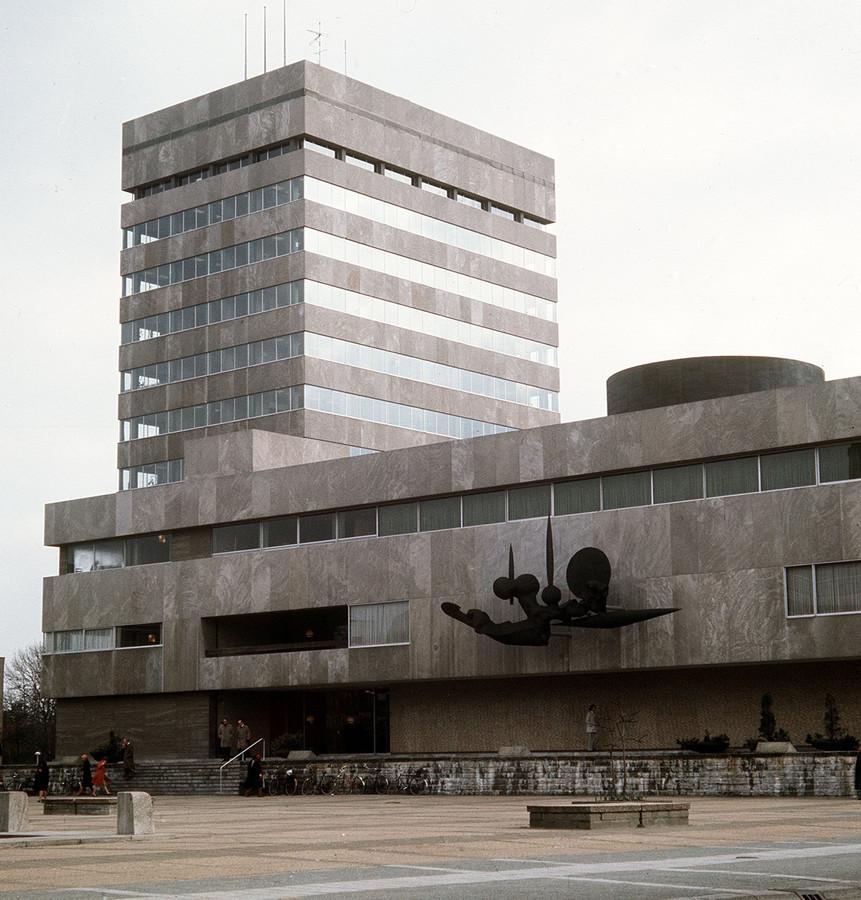 Archieffoto van het stadhuis van Eindhoven.