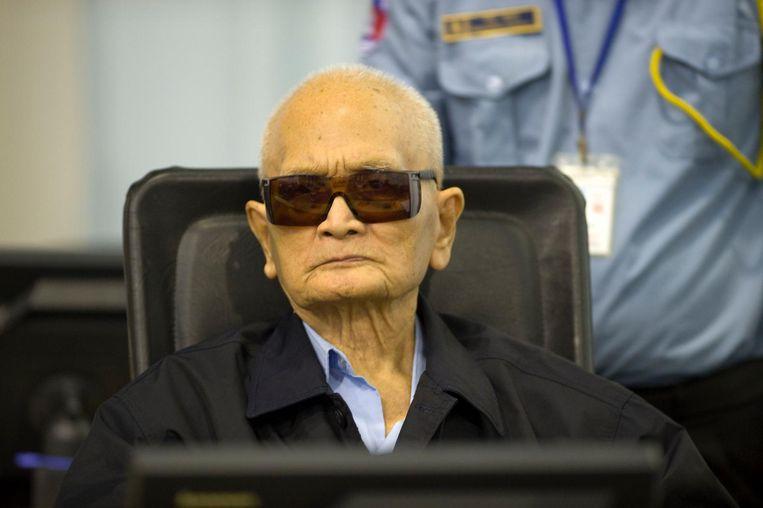 Nuon Chea ofwel Broeder Nummer 2 in het Cambodja van de Rode Khmer. Beeld reuters