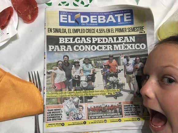 Het gezin haalde al verschillende kranten in Midden Amerika