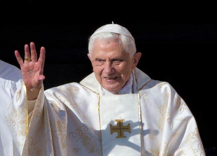 Paus emeritus Benedictus XVI , hier op archieffoto uit 2014. Beeld AP