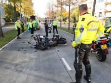 Motoragent rijdt bovenop collega tijdens marathon Eindhoven