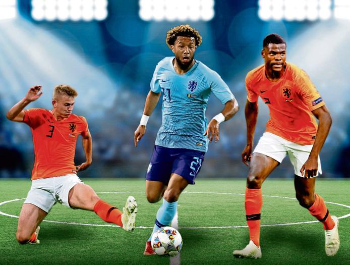 Matthijs de Ligt (Ajax), Tonny Vilhena (Feyenoord) en Denzel Dumfries (PSV) nemen hun positieve ervaringen met Oranje mee naar hun clubs.