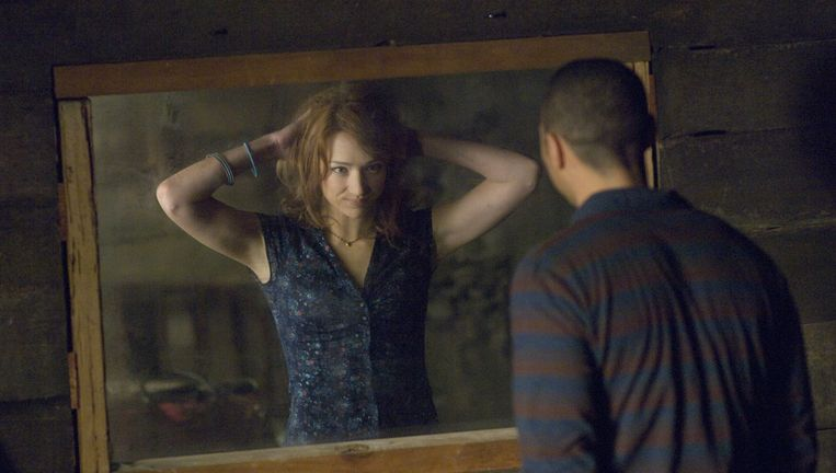 Kristen Connolly en Jesse Williams in The Cabin in the Woods. Beeld