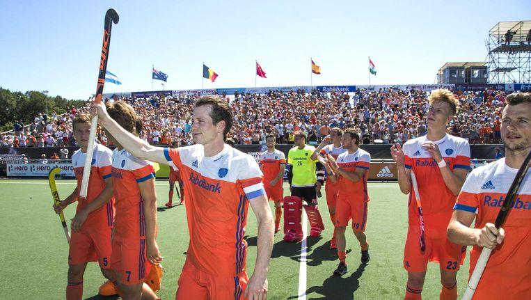 De Nederlandse mannen wonnen brons bij de Champions Trophy Beeld anp