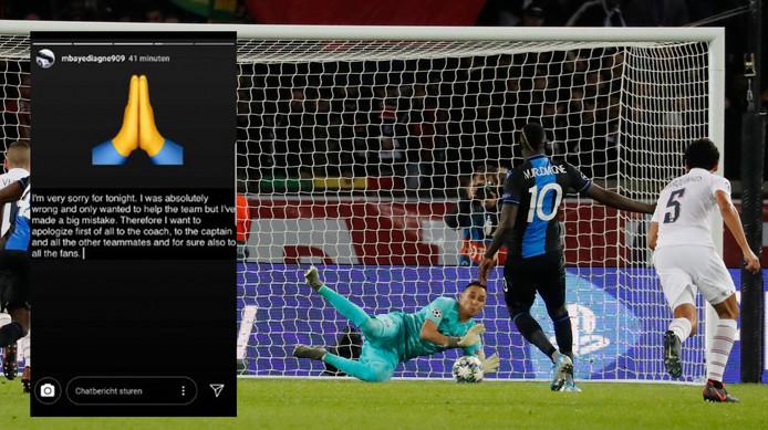 Mbaye Diagne a présenté ses excuses après avoir raté un penalty face à Paris