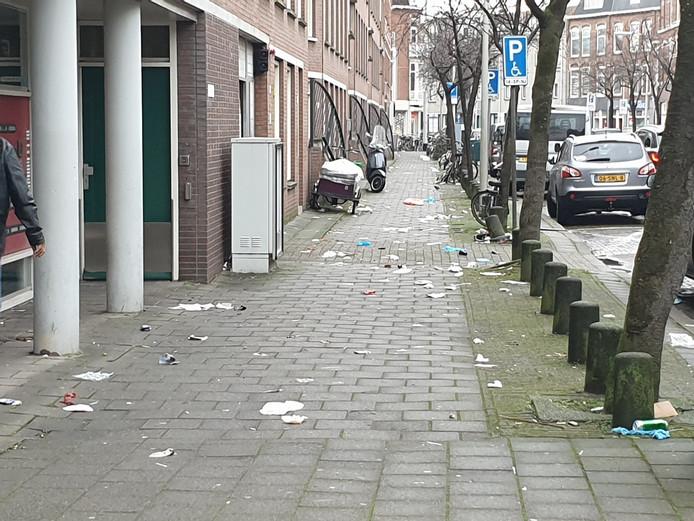 Het straatbeeld, zoals hier in de Hertzogstraat, geeft bewoners van Transvaal geen fijn gevoel.