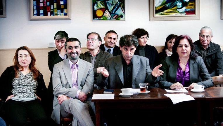 Leden van het Turks Netwerk. 'We willen op een beschaafde manier onze meerwaarde laten zien.' Foto Jean-Pierre Jans Beeld