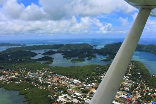 Roeland Bruysters (54) uit Rosmalen woont in het exotische Palau. Corona kennen ze er (nog) niet.