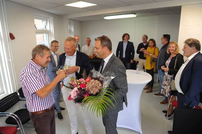 vlnr Cees Verhage, Frank Bijleveld en wethouder Aalberts