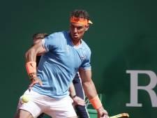 Nadal na blessureleed simpel door in Monte Carlo