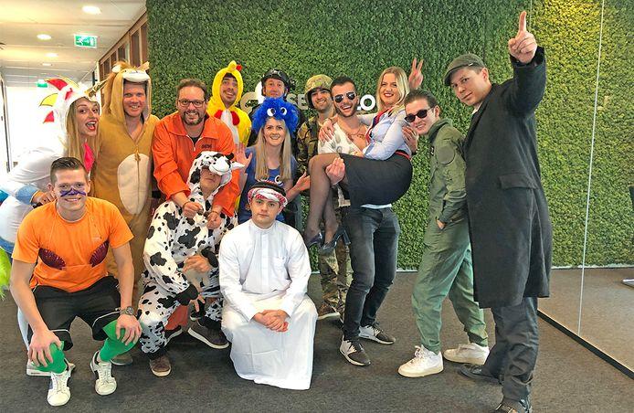 Carnaval op kantoor bij SendCloud.