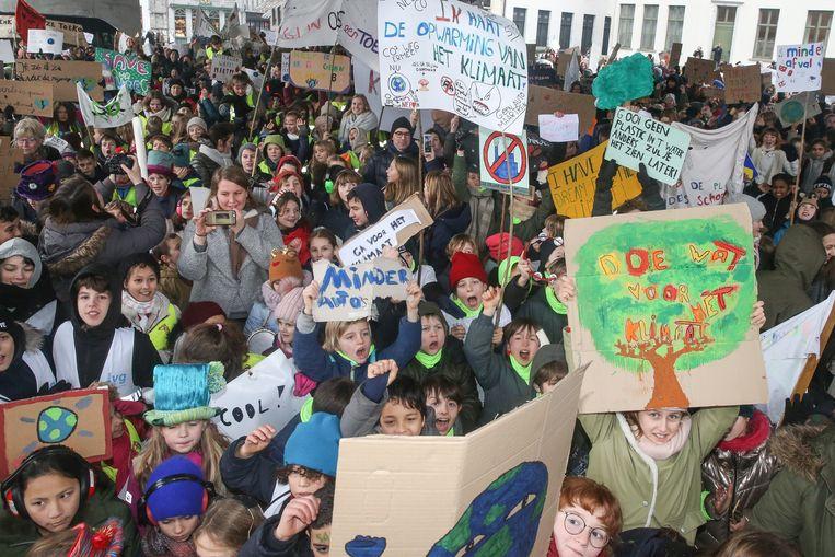 Na de actie onder de stadshal van vorige week door Gentse basisscholen pakt Jenaplanschool De Kleurdoos vanaf deze week uit met een nieuwe klimaatactie.