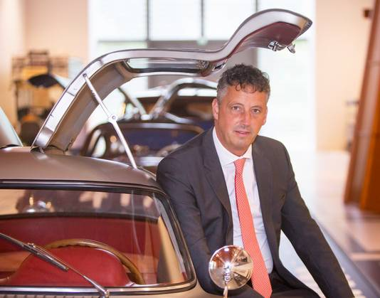 Ronald Kooyman, directeur van het Louwman Museum: ,,Het is echt uniek dat de wagen hier mag staan.''