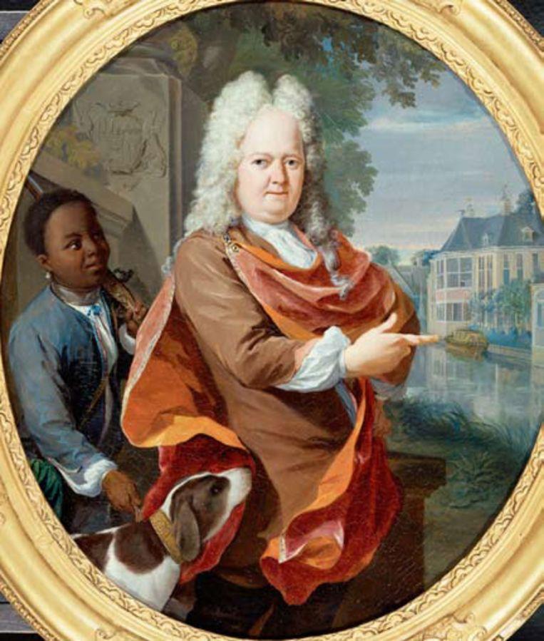 Het portret van Adriaan van Bredehoff en Tabo Jansz (achter) Beeld