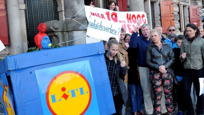 Protestactie tegen de komst van Lidl