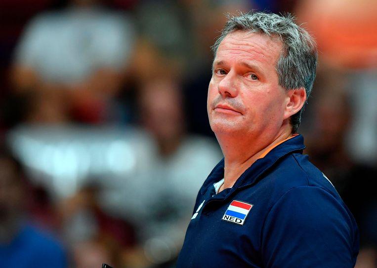 Gido Vermeulen stopt als bondscoach van de Nederlandse volleybalmannen. Beeld AP