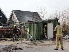 Brand in schuurtje aan het Groenewegje in Kwadendamme