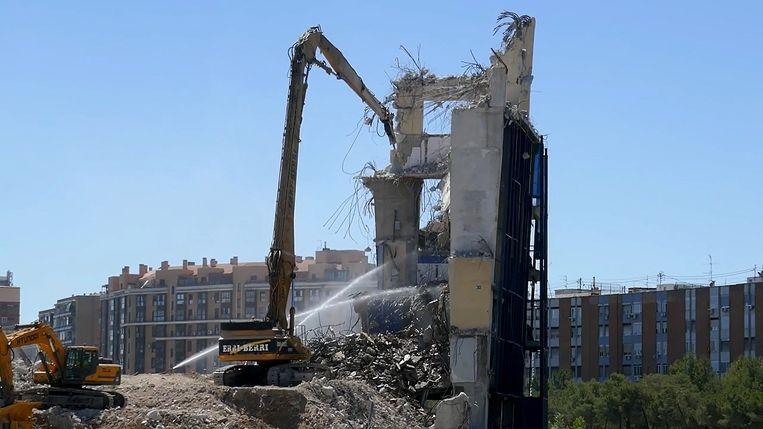 Het Vicente Calderon-stadion is niet meer.