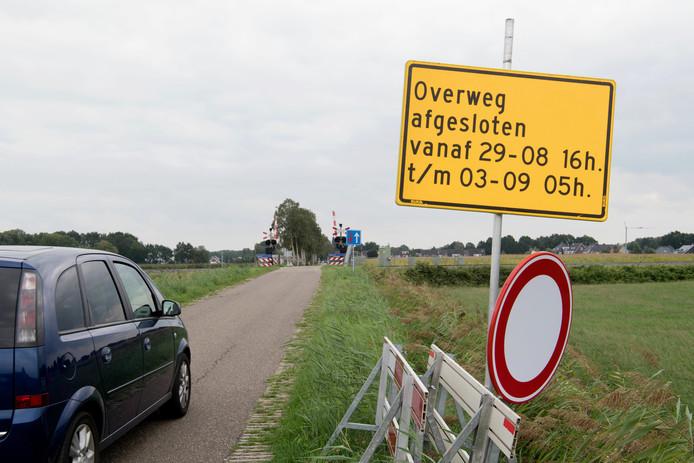 Enkele overwegen bij Beerzerveld worden de komende dagen afgesloten vanwege werkzaamheden aan het spoor.