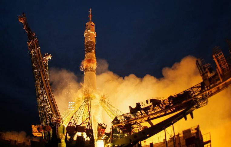 De Soyuz MS-15 vertrekt naar ruimtestation ISS.