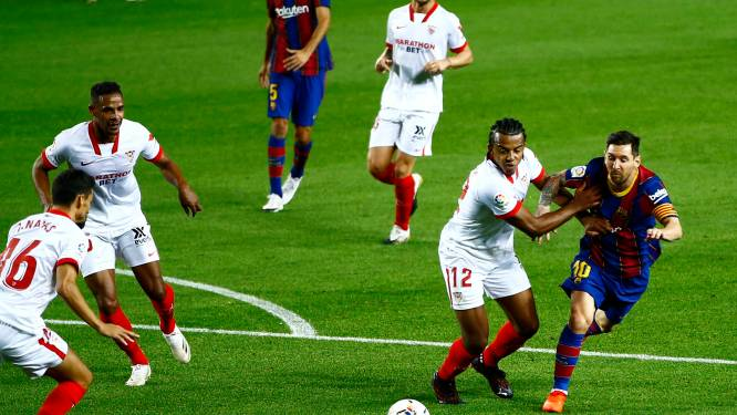 FC Barcelona kan sterke start niet doortrekken tegen Sevilla en lijdt eerste puntenverlies