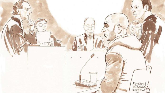 Benaouf A. tijdens een eerder zaak.