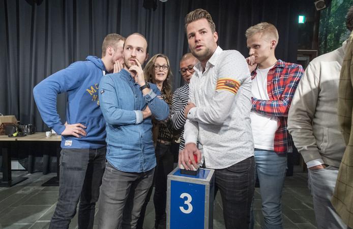 Het team van de sporters, met in het wit Sander ten Tusscher, kwam om te winnen en deed dat dan ook.