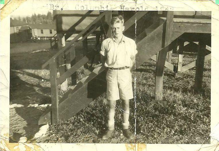 De jonge Harold Roszell. Beeld Familiecollectie